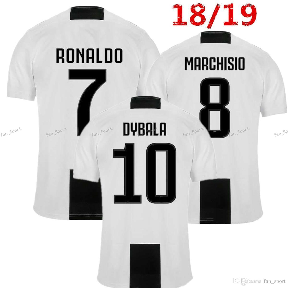 84765ae62 2019 2018 Juventus Soccer Jerseys Dybala 7 Ronaldo 18 19 HIGUAIN MATUIDI  MANDZUKIC Buffon MARCHISIO Goalkeeper Men Kids Women Football Shirts From  Fan sport ...