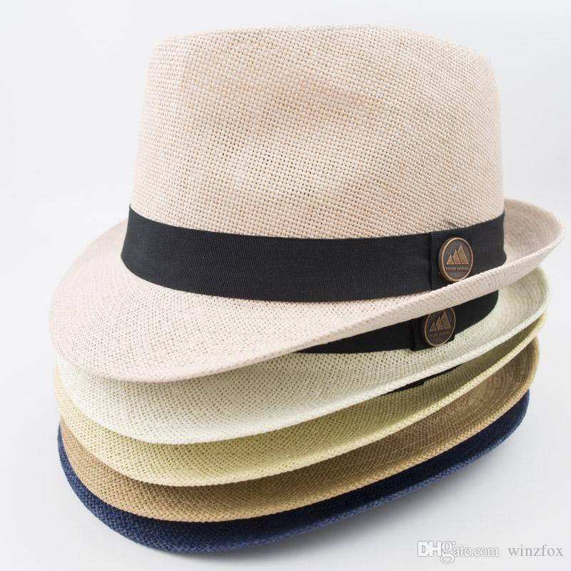 b6c84c253f7 2019 EPU MH1818 Paper Straw Fedora Women Men Designer Hats For Fashion Summer  Beach Holiday Classic And Vintage Style Jazz Hats From Winzfox