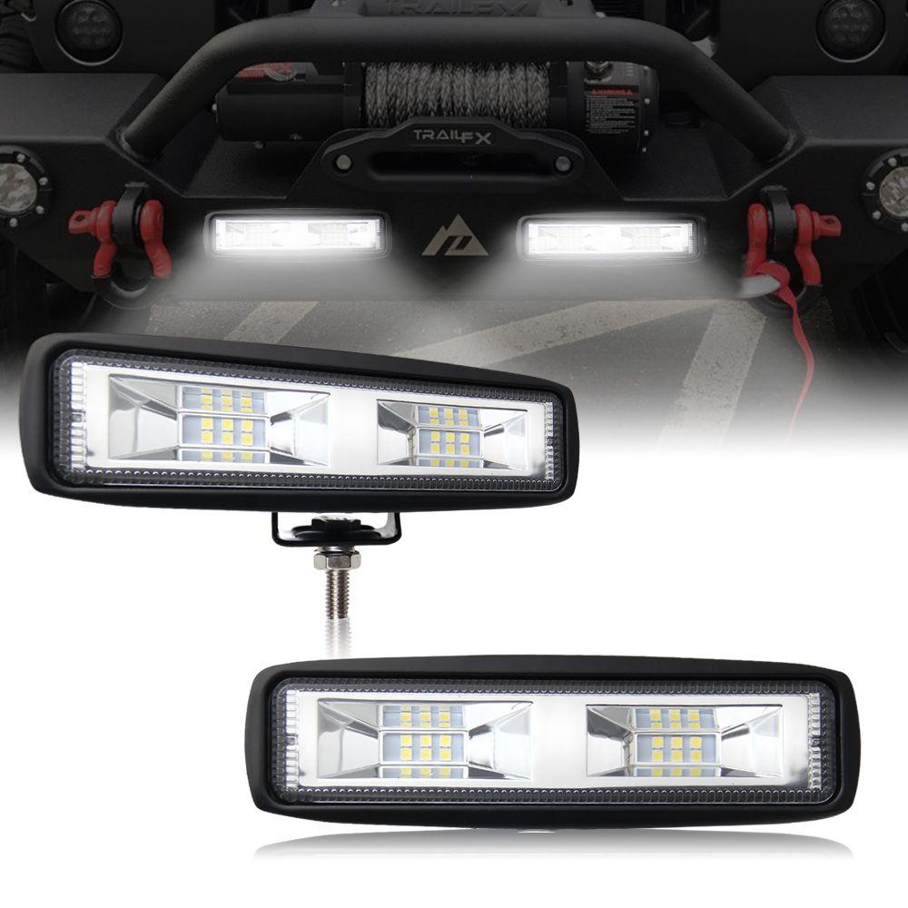6 Inch 40w Mini Led Work Light Bar Single Row For Offroad Trucks 4wd ...