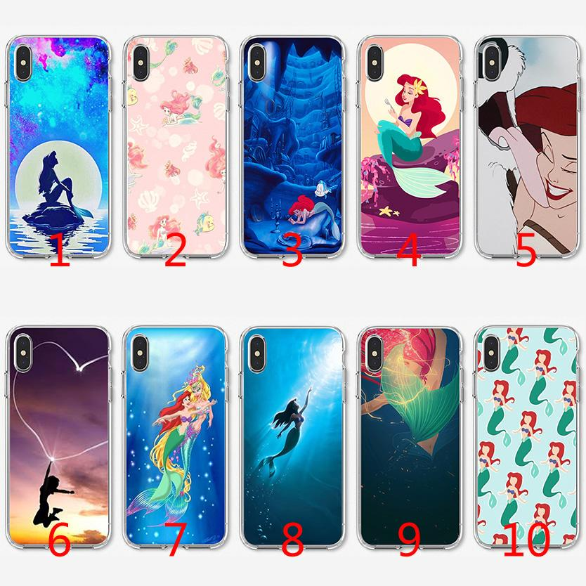 hot sales 3ed3e 94068 Little Mermaid Ariel Soft Silicone TPU Case for iPhone X XS Max XR 8 7 Plus  6 6s Plus 5 5s SE Cover