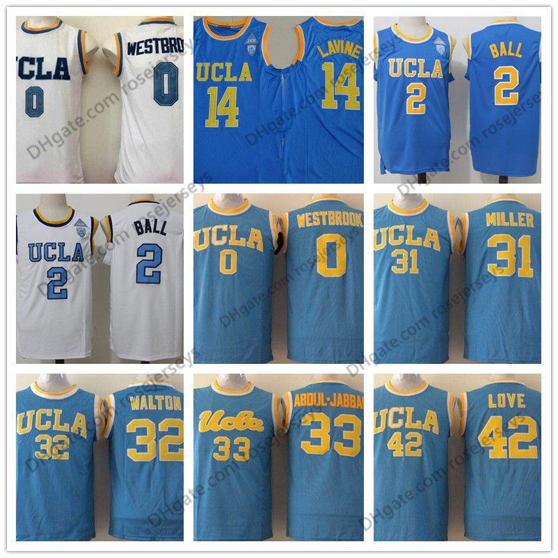 8475f7ecd NCAA UCLA Bruins  0 Russell Westbrook 2 Lonzo Ball Reggie Miller ...
