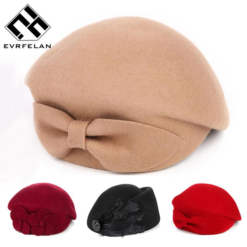 fff835cba6f7e 2019 2016 New Fashion Brand Winter Beret Hat For Women Beret Hat Female Beanie  Cap Flower French Trilby Wool Soft Stewardess From Grandliu, $46.97 |  DHgate.