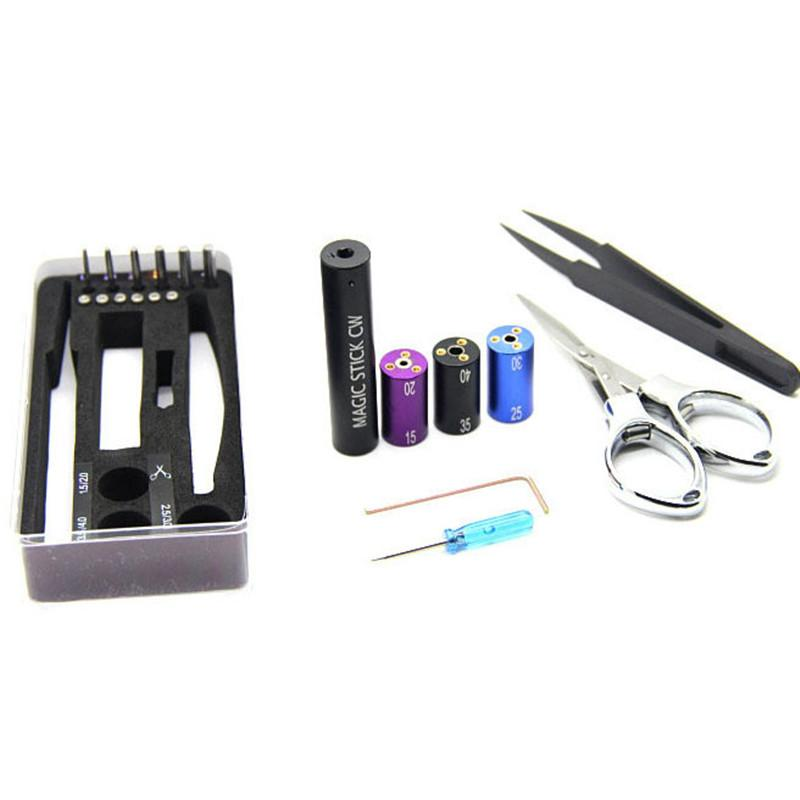 Universal Tools Wire Coiling Tool CW toolbox RDA pre coil vape tool box master vape jig kit 6 in 1 wire coiling machine