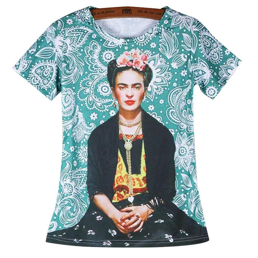 f3517a5d6afa Acheter Gros Top Qualité Frida Kahlo Femmes T Shirts Vente Chaude Summer  Design Marilyn Monroe Sexy T Shirt Vintage Femmes T Shirts De  31.37 Du  Vaiwen ...