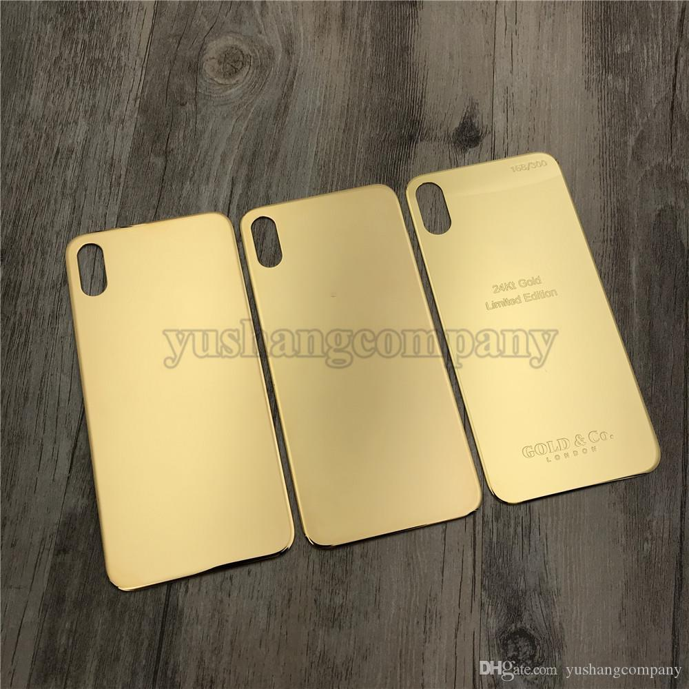 For Iphone X Back Housing Glass Replacement 24K Gold Glass Frame For Iphone  X With Diamonds 3 Types London Text Housing Free Tools