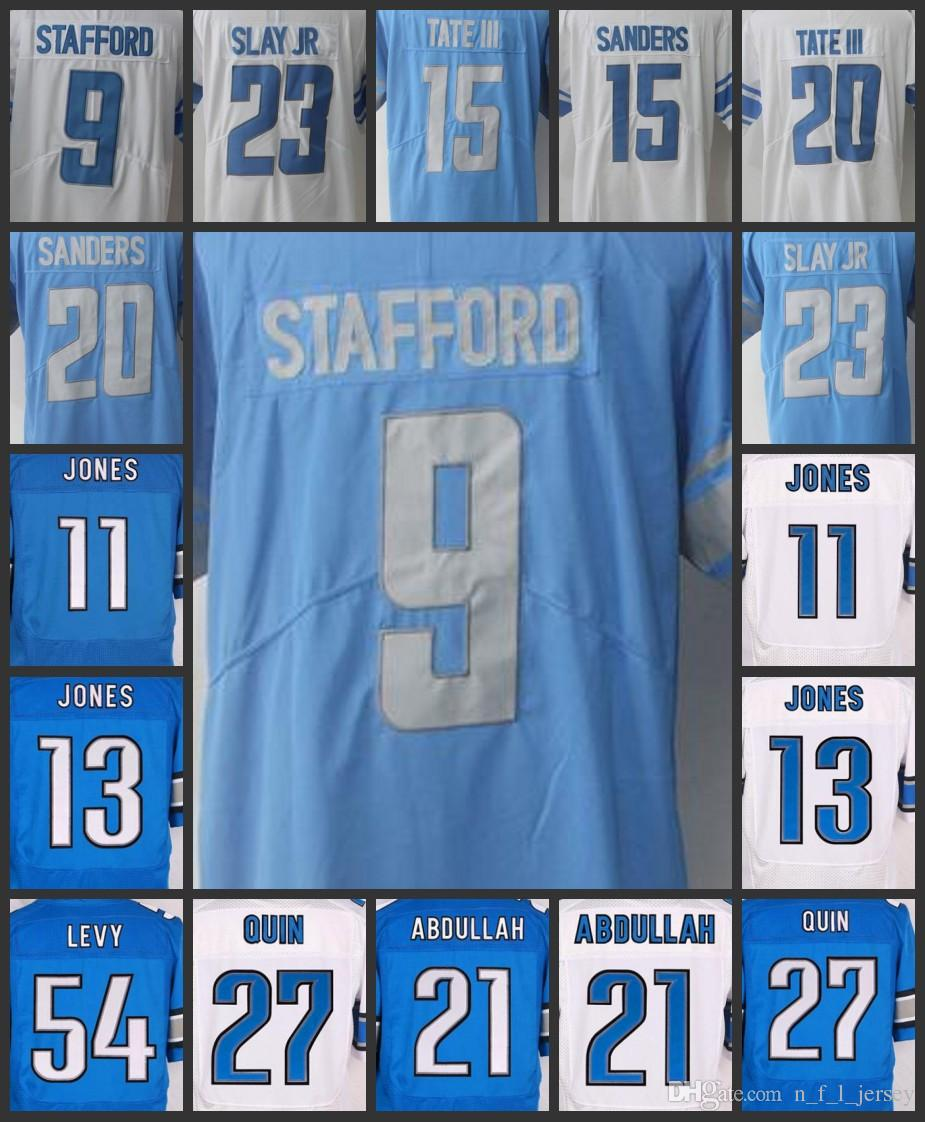 Men Detroit Lions Women Jerseys  9 Matthew Stafford 15 Golden Tate 20 Barry  Sanders 21 Ameer Abdullah Youth Limited Embroidery Jersey Online with ... 34a5aafc4