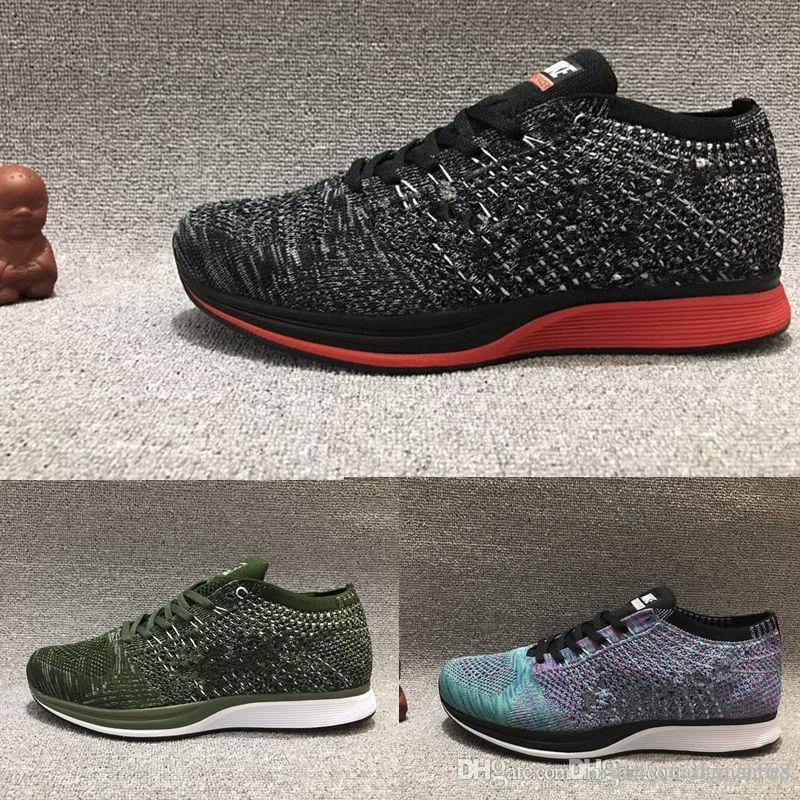 NIke FlyknIt RAcer High Quality Mesh Multicolor Volt Oreo Casual Shoes  Lunar Running Shoes Men Women Trainer Sneakers Discount Shoes Mens Loafers  From ...