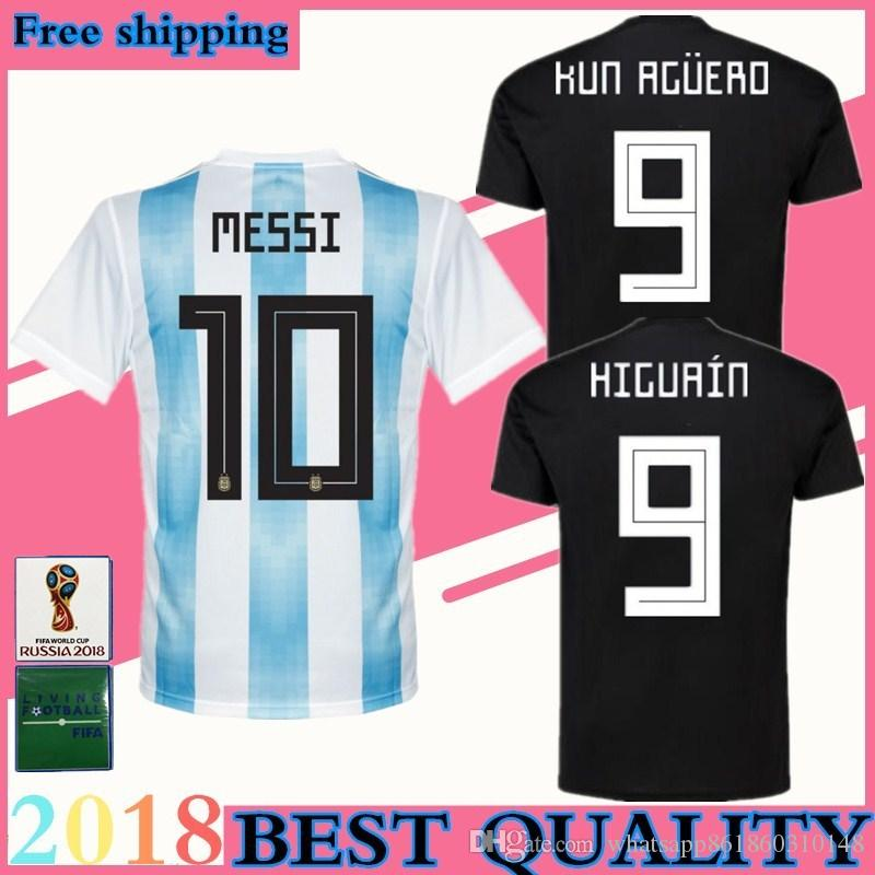 d37c3371b 2018 World Cup Argentina Soccer Jersey Messi Maillot Home Blue And White Away  Black OTAMEND DYBALA ICARDI DI MARIA Football Uniform Soccer Jerseys  Football ...