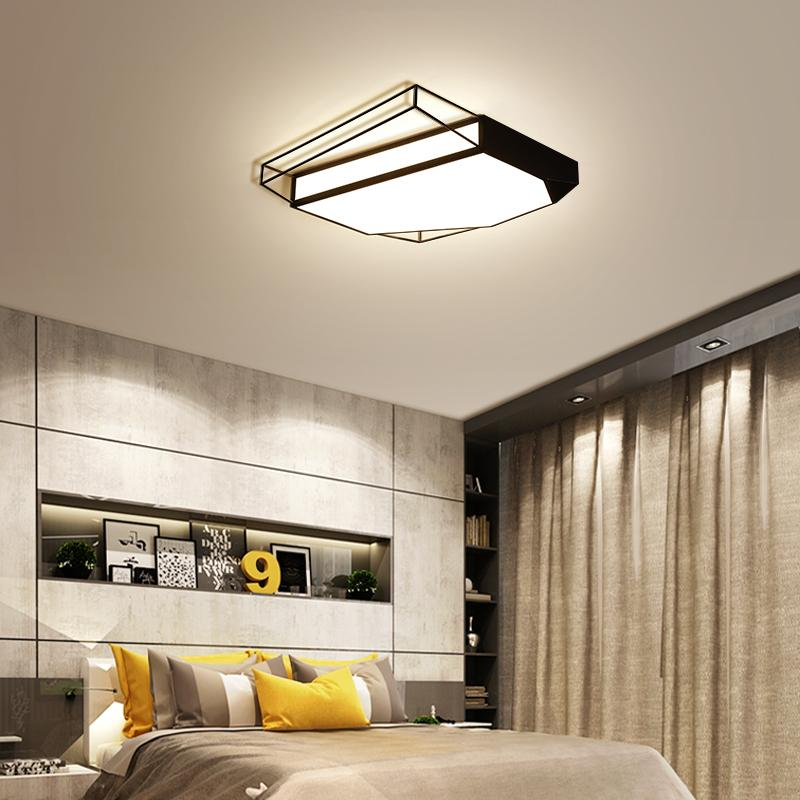 2018 New Black/White Frame Led Ceiling Lights Novelty Modern Bedroom ...
