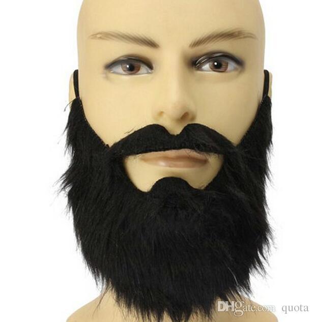 2018 fake beards halloween costume party moustache black halloween