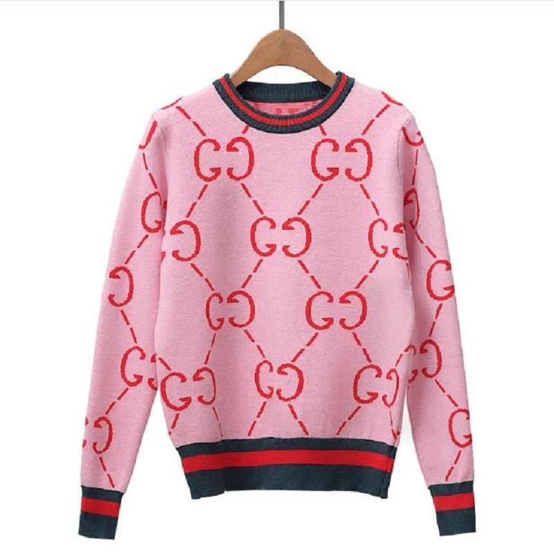 the latest e3c75 303e3 Womens Winter Pullover Langarm Vintage Womens Strickwaren Pullover hohe  Qualität süße rosa Pullover elegante Strickpullover