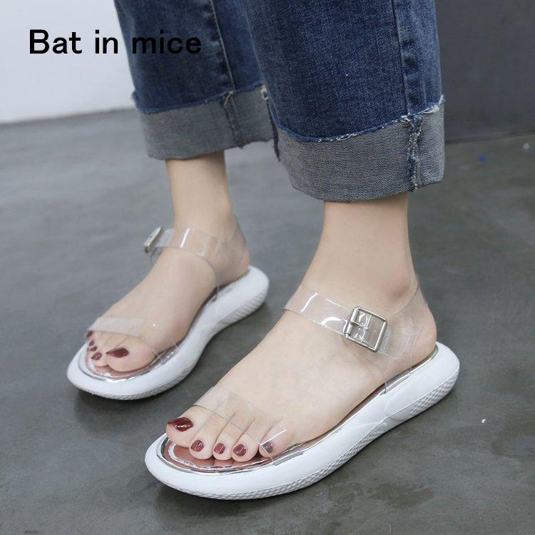 9ada4d60469 New 2018 Women Shoes Cozy Casual Shoes Flats Sandals Pvc Soft Lady Silver  Mujer Plus Size 35 40 A031 Comfortable Shoes Discount Shoes From Annawawa