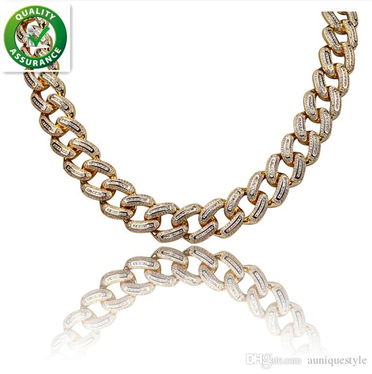 2019 Hip Hop Jewelry Gold Chains For Men Diamond Designer Necklace Iced Out  Chain Luxury Brand Cuban Link Micro Paved CZ Women Christmas Gift From ... 74d8bb843a