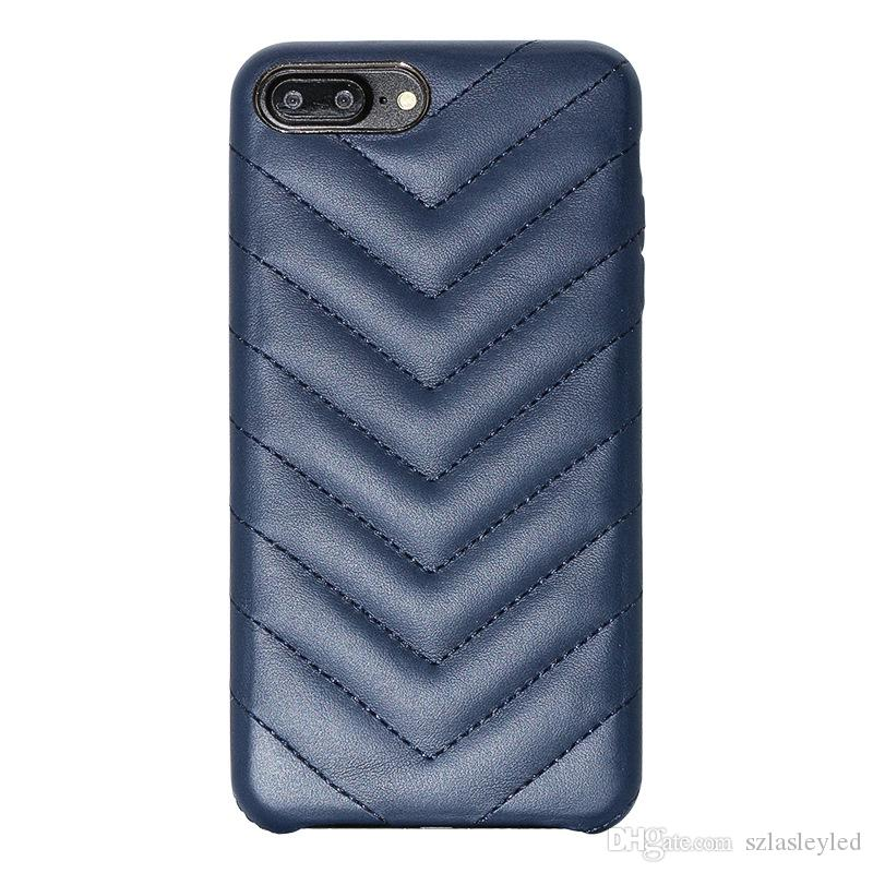 hot sale cell phone case ultra thin back cover Anti-slip wear-resistant striped PU leather case for iphone X 6 7 8 plus