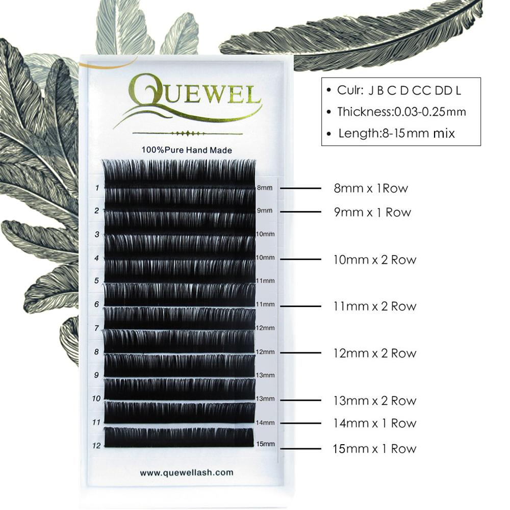 be1763ed607 False Mink Eyelashes Extension Individual Natural Soft Lashes Extension  Professionals Quewel 3D Russia Volume Silk Lash Kiss Lashes No Eyelashes  From ...