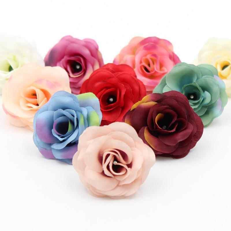 2018 Wholesale 5cm Artificial Rose Silk Flower Heads For Wedding