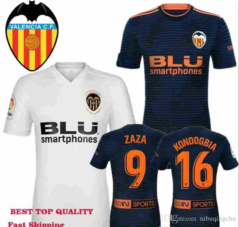 58ee81c7be Valencia CF Soccer Jerseys 2018 2019 Chandal Adult Home 100th Gold Logo  Jersey 18 19 Shirts Away Man ZAZA Gaya Kondogbia Guedes FUTBAL Canada 2019  From ...