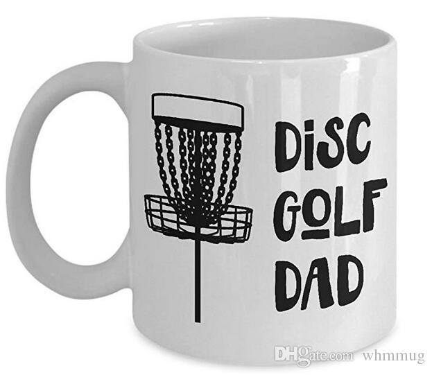disc golf coffee mug best funny unique ultimate frisbee person tea cup perfect gift idea for men women disc golf dad best personalized coffee mugs best