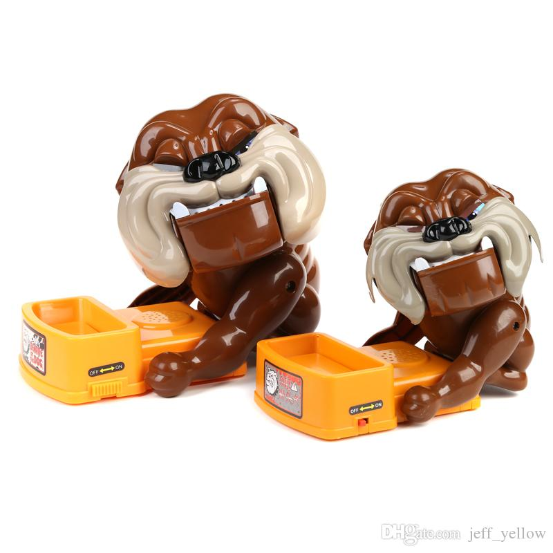 Beware of evil dogs toys Stealing bones Tricky toy Send children game Clamping head Bite finger toy Creative toys