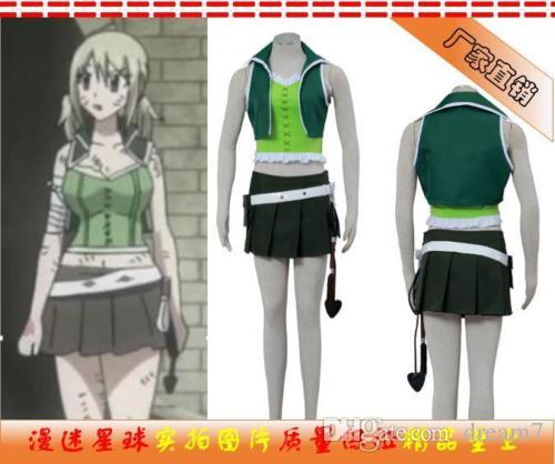 New Fairy Tail Lucy Heartfilia 3generation Cosplay Costume Green