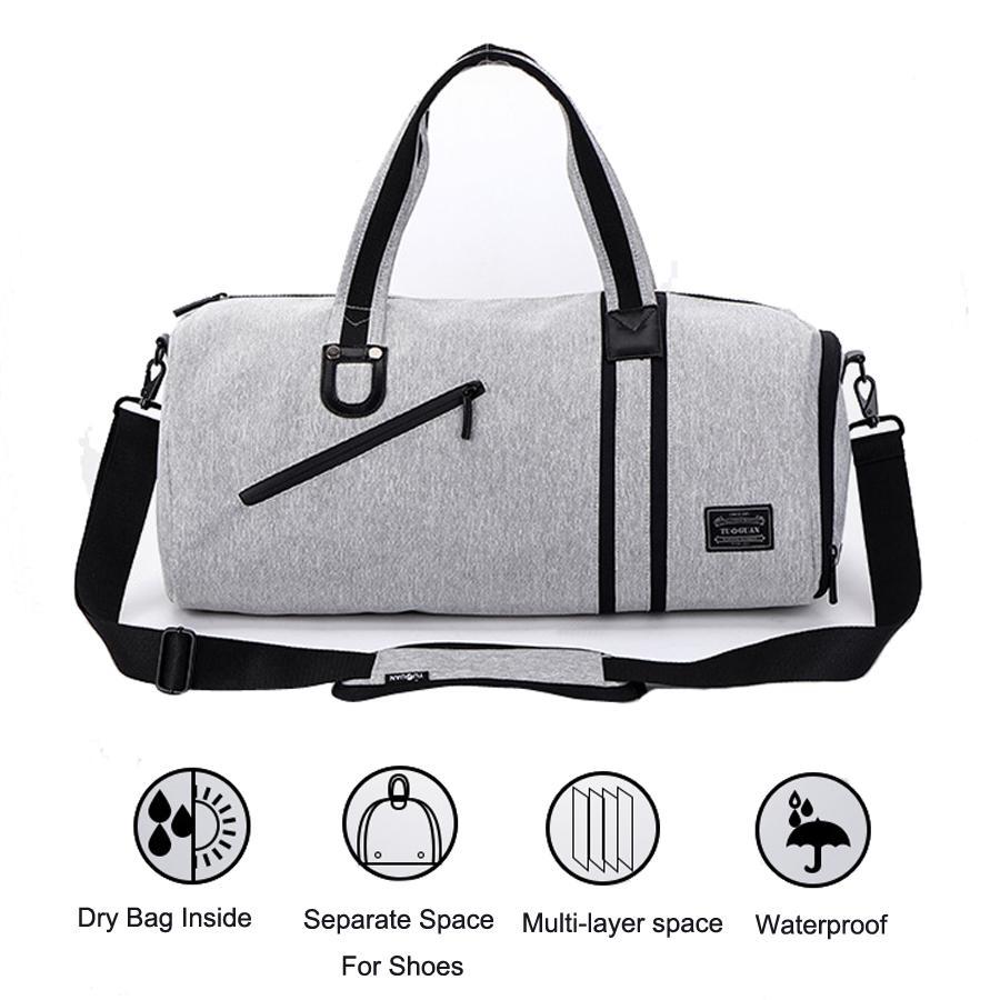 1d31a94dfb 2019 2018 Gym Bags Men Built In Dry Bag Waterproof Handbags Shoulder Bag  For Shoes Training Fitness Travel Swim Sac De Sport Women From  Kangshifuwat
