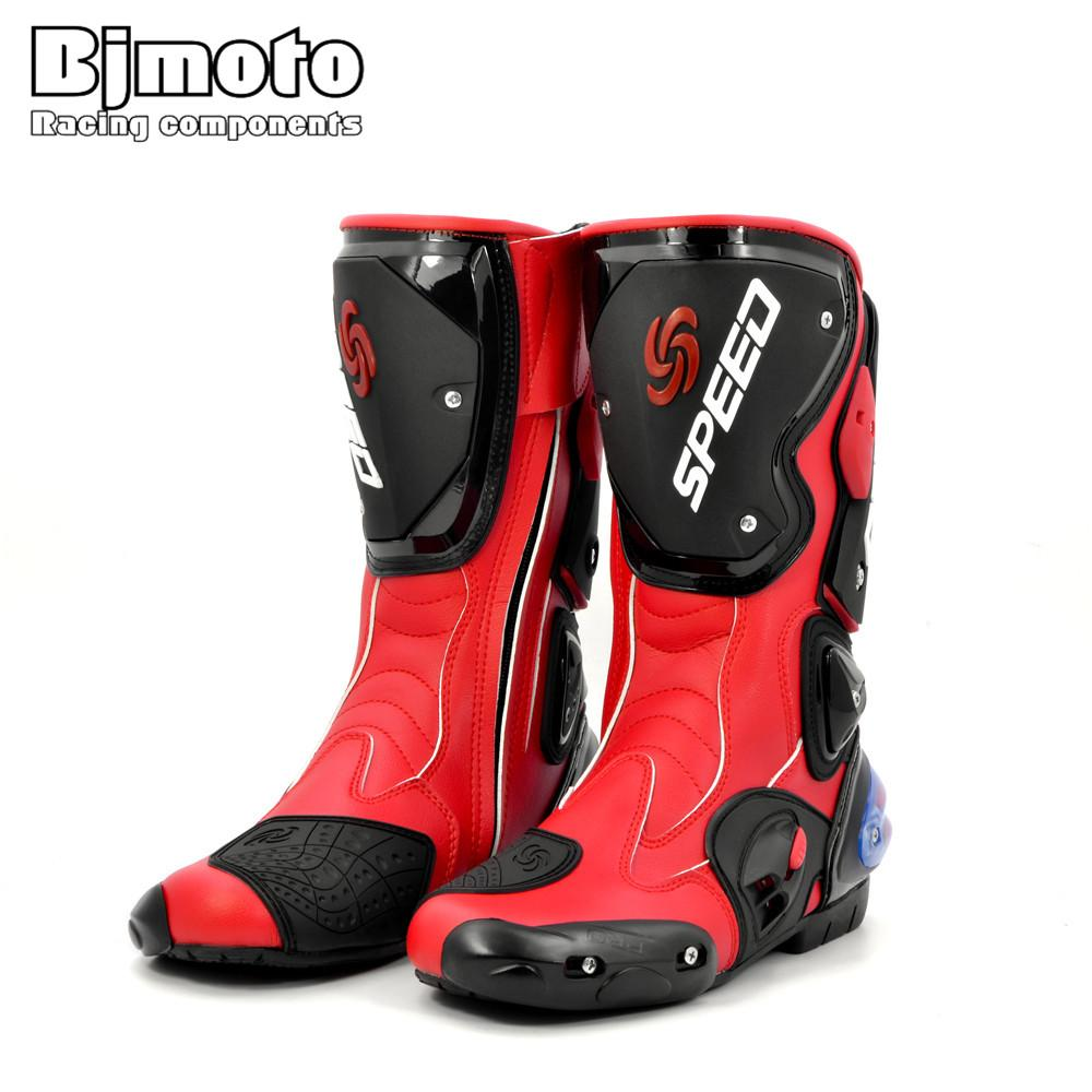 f433faae1e8832 2019 BJMOTO Men Motorcycle Boots Motocross Racing Speed Motorbike Shoes  Moto Boot Men Dirt Bike Cycling Sports Botas Riding Tribe From Miaotang