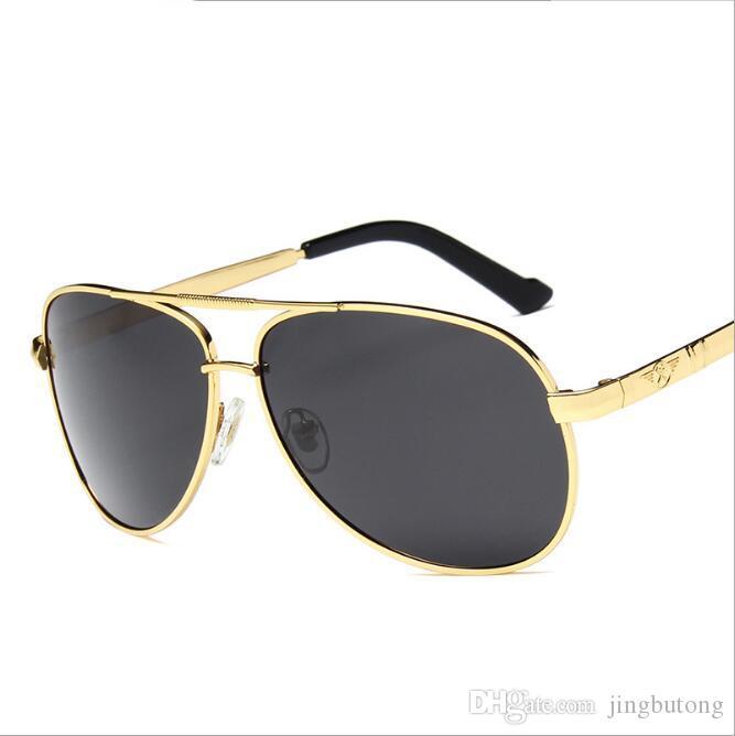 Compre Hombres Vintage Metal HD Gafas De Sol Polarizadas Classic Brand Gafas  De Sol UV 400 Lens Driving Shades Para Hombres Mujeres A  11.48 Del  Jingbutong ... 1b9de1f330