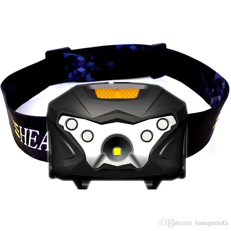 2018 Nuovo modello USB di induzione di carica del faro anteriore a luce forte LED fari di pesca notte esterna in esecuzione faro 30lh X