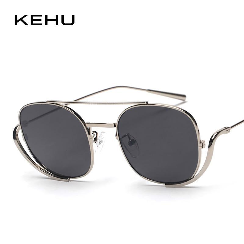 fc45c5f441f KEHU Unique Vintage Sunglasses Women Brand Designer Men Square Shades  Classic Steampunk Sunglasses K9740 Vintage Sunglasses Super Sunglasses From  ...