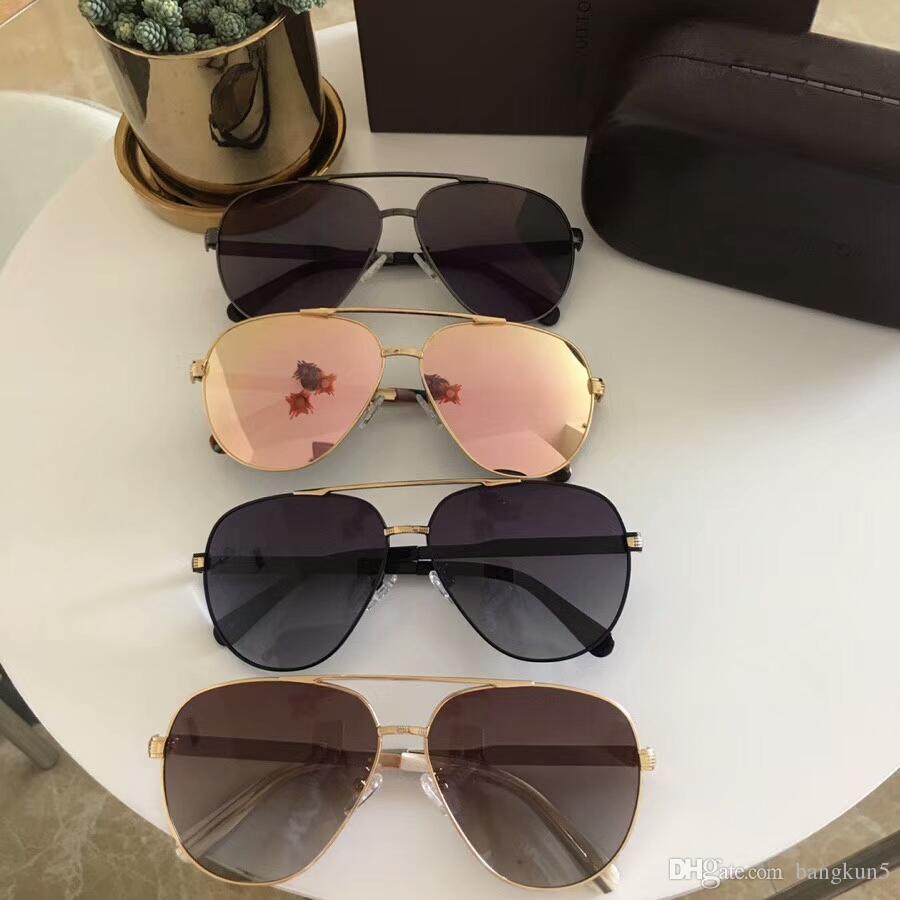 3b0e1967edd New Luxury Brand Designer Sun Glasses 0818 Model Hollow Full Frame ...