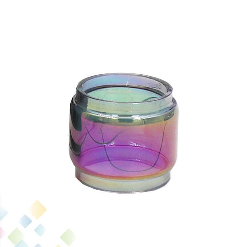 Tubo de vidrio Pyrex extendido Color del arco iris Tubos Fat Boy TFV12 PRINCE iJust ECM Manga de repuesto sin DHL