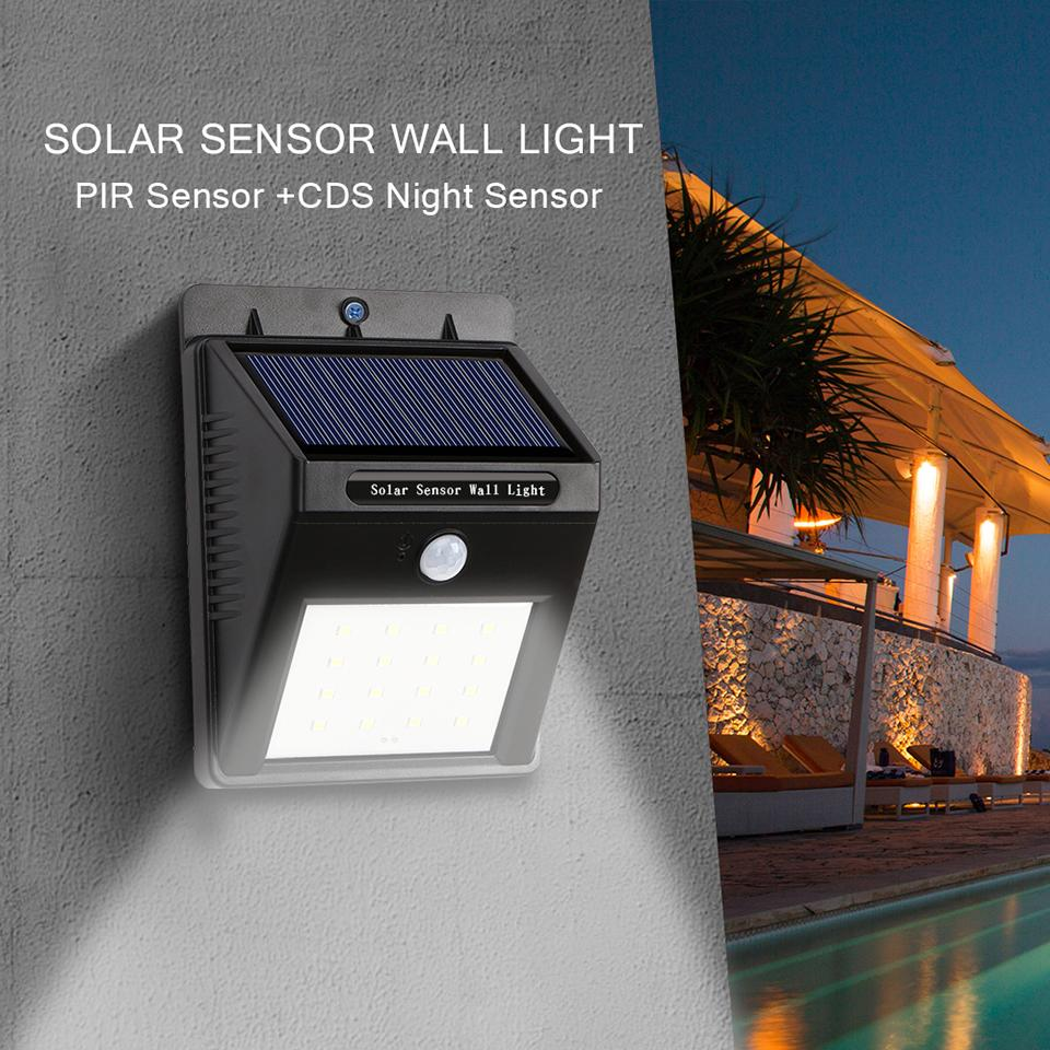 2018 16led Outdoor Solar Sensor Led Wall Light, Pir Motion Sensor ...