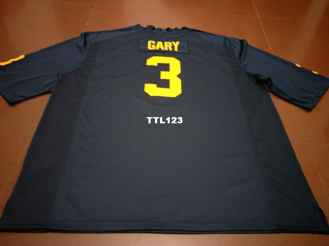 more photos cd56e dca9e Men BLUE WHITE #3 Rashan Gary Michigan Wolverines Alumni College Jersey  S-4XLor custom any name or number jersey