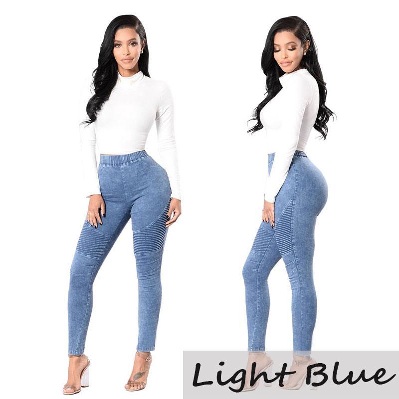 de305c71ce639 2019 2018 Women Skinny Jeans Fashional Push Up High Waist Pants Ladies  Casual Slim Fit Long Pants Female Trousers From Wqhuan