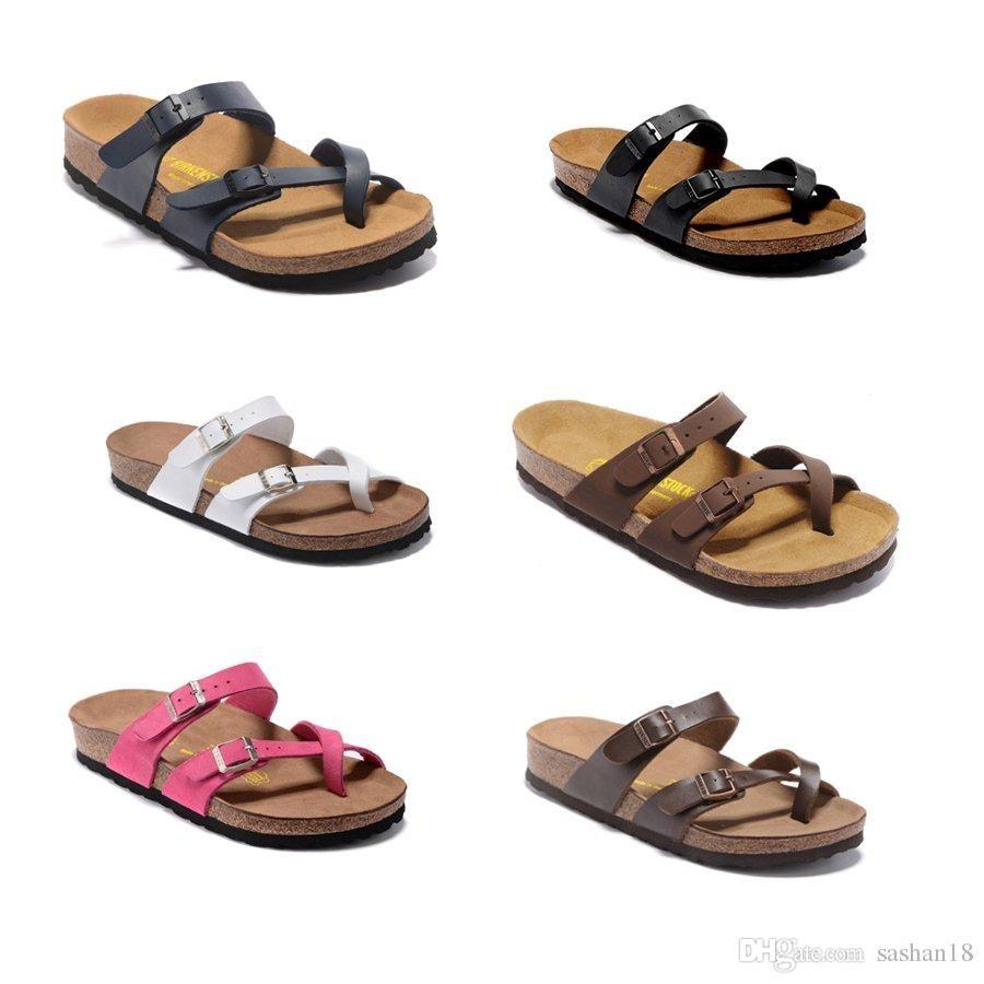 39ffa595254f4 Acheter 2018 Hot Mayari Arizona Gizeh Vendre Des Chaussures D été Pour  Femmes Hommes Sandales Plates Pantoufles En Liège Unisex De  35.17 Du  Carlos5726 ...