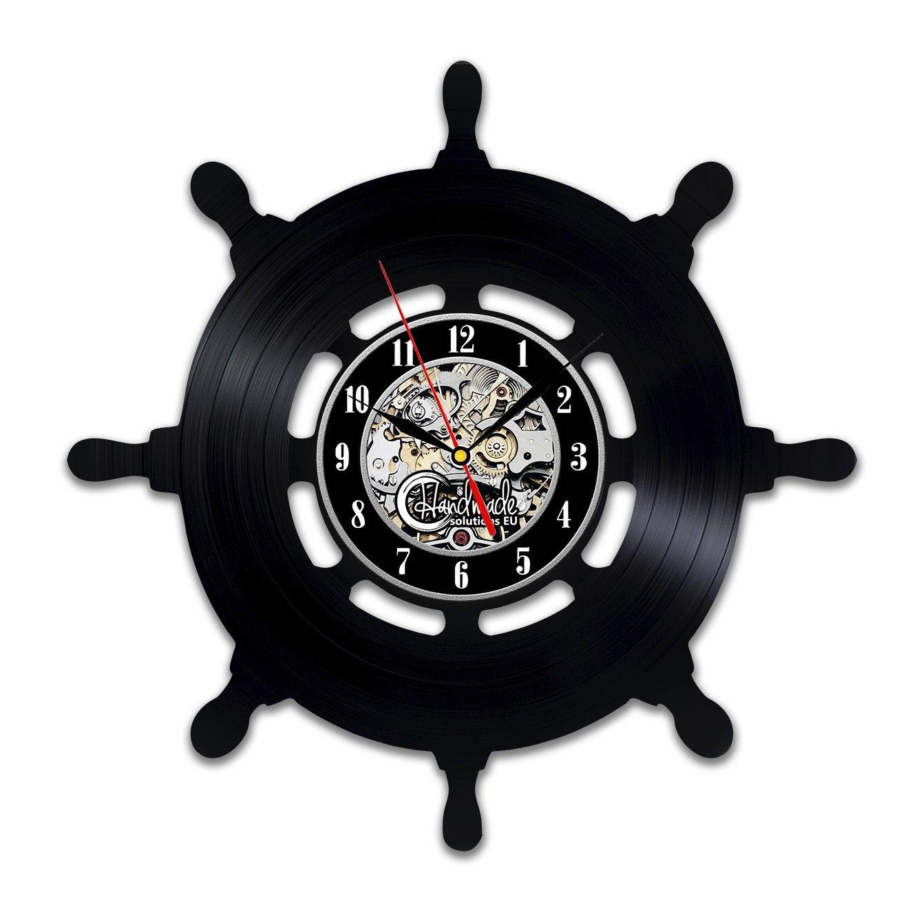 Diy Gift For Ship Navigation Wheel Wall Clock Art Presents Gift For