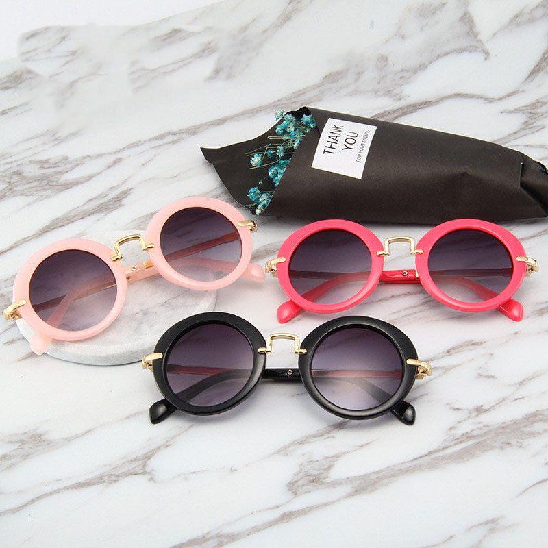 17dcae1cd0 2019 Baby Sunglasses Fashion Girls Boys Beach Supplies UV400 Protective  Eyewear Sunshades Glasses PC+Metal Frame Kids Children Y49 From  Xunyangtrade01