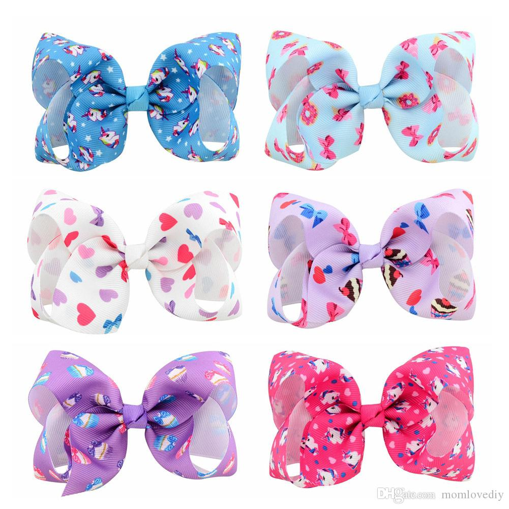 4   Hot Selling Unicorn Bow Heart Bow Ribbon Bows Hair Clips Baby Girls DIY  Hair Accessory Supply UK 2019 From Momlovediy cb3414f663