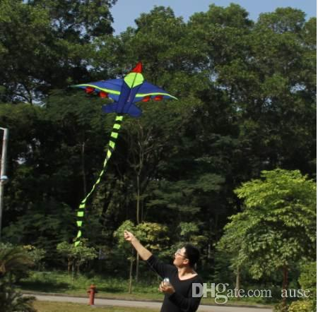 Novelty Kids Flying Kite Long Tail Airplane Kites Outdoor Sports Toys Kite Easy To Fly for Children No Thread