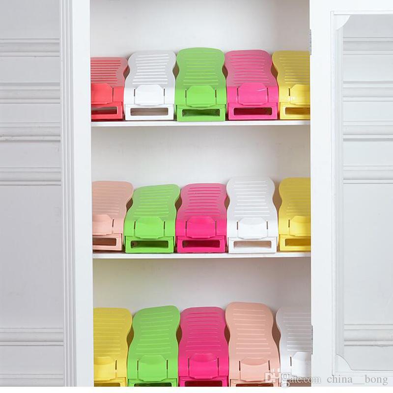 Multi-color Display Rack Shoes Organizer salvaspazio in plastica Storage giardino di casa gli uomini woem scarpe da donna