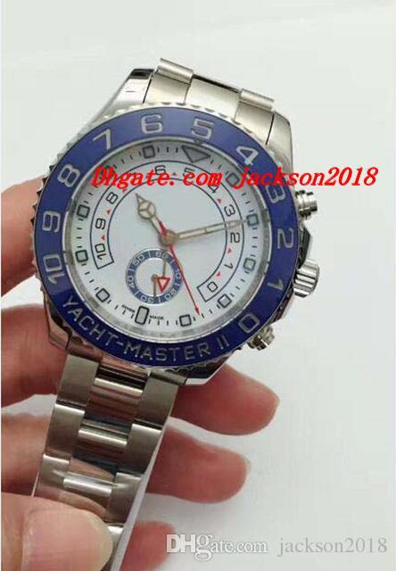 214292493 Compre Relojes De Lujo Para Hombre II es Blanco Esfera Azul Bisel 44 Mm  Nuevo Reloj De Pulsera Automático Para Hombre De Moda A $86.3 Del  Jackson2018 ...