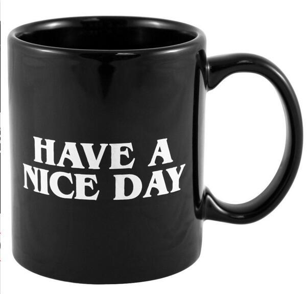 Creative Have A Nice Day Coffee Mug Middle Finger Funny Cup For