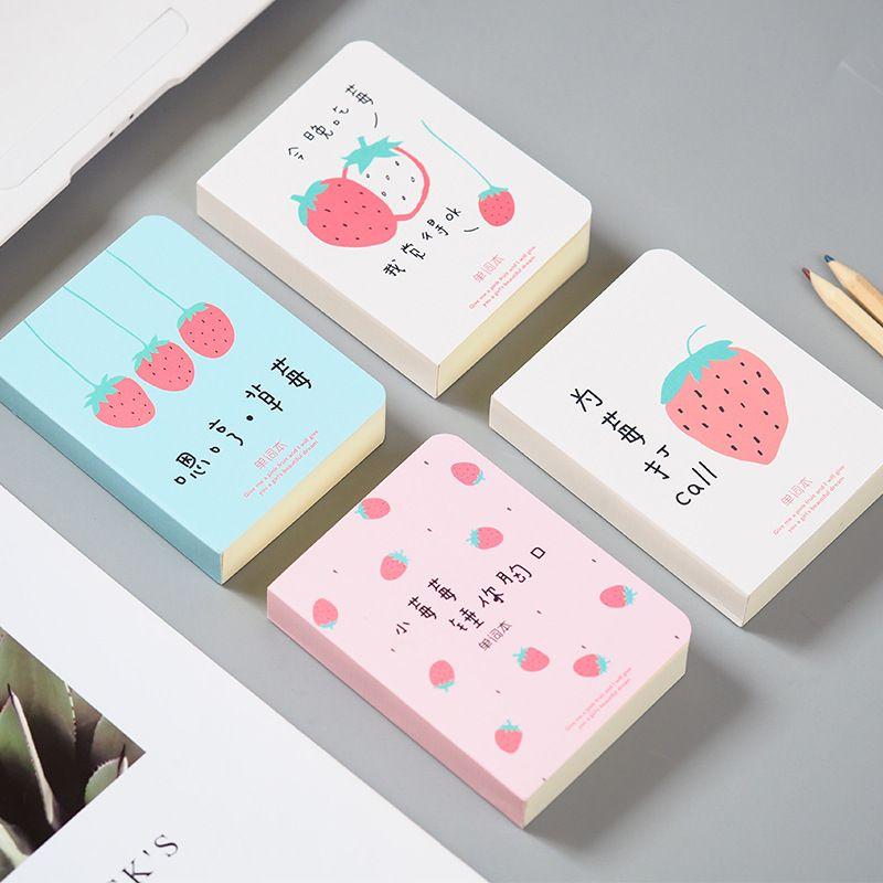 cute kawaii strawberry vocabulary notebook recite words learn