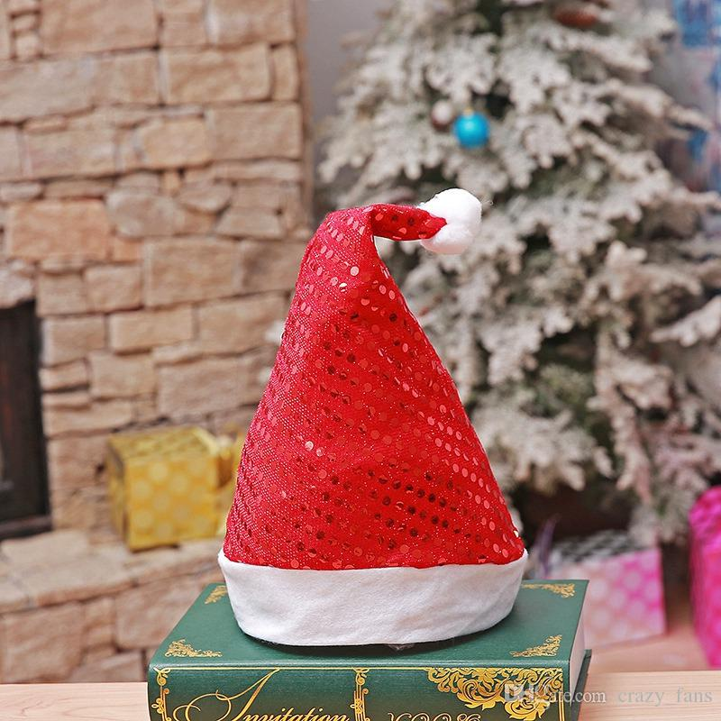 cac3e3b305dee 2018 Sequins Christmas Hat Colorful Santa Hat For Holiday Party Christmas  Festival Supplies Christmas Gifts Decoration Hats Top Hat Party Hats Top  Hats From ...