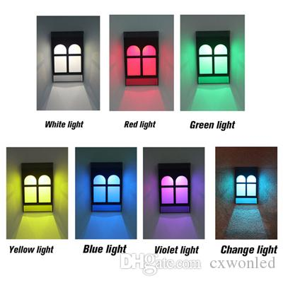 Access Control Kits Solar Energy Lamp Outdoor Fence Lamps Garden Waterproof Landscape Lights Street Stair Wall Colorful Light With Three-way Switch