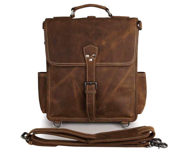 a8e0438e4483 JMD Classic Crazy Horse Leather Men Messenger Bag Briefcase Laptop ...