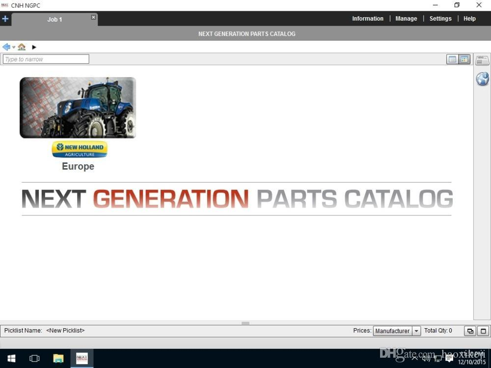 New Holland Construction North America 2015 Parts Catalog