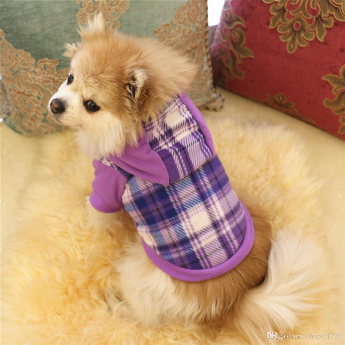 Winter Spring Pet Clothes Product Supply Plaid Dog Coat for Small Dogs Chihuahua Fleece Attire Puppy Dogs Suit Pet Supplies XS-XL