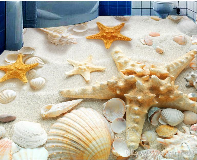 Custom 3D Floor Wallpaper Mural HD Starfish Vinyl For Bathroom Living Room Painting Waterproof Hd A Wallpapers Free From