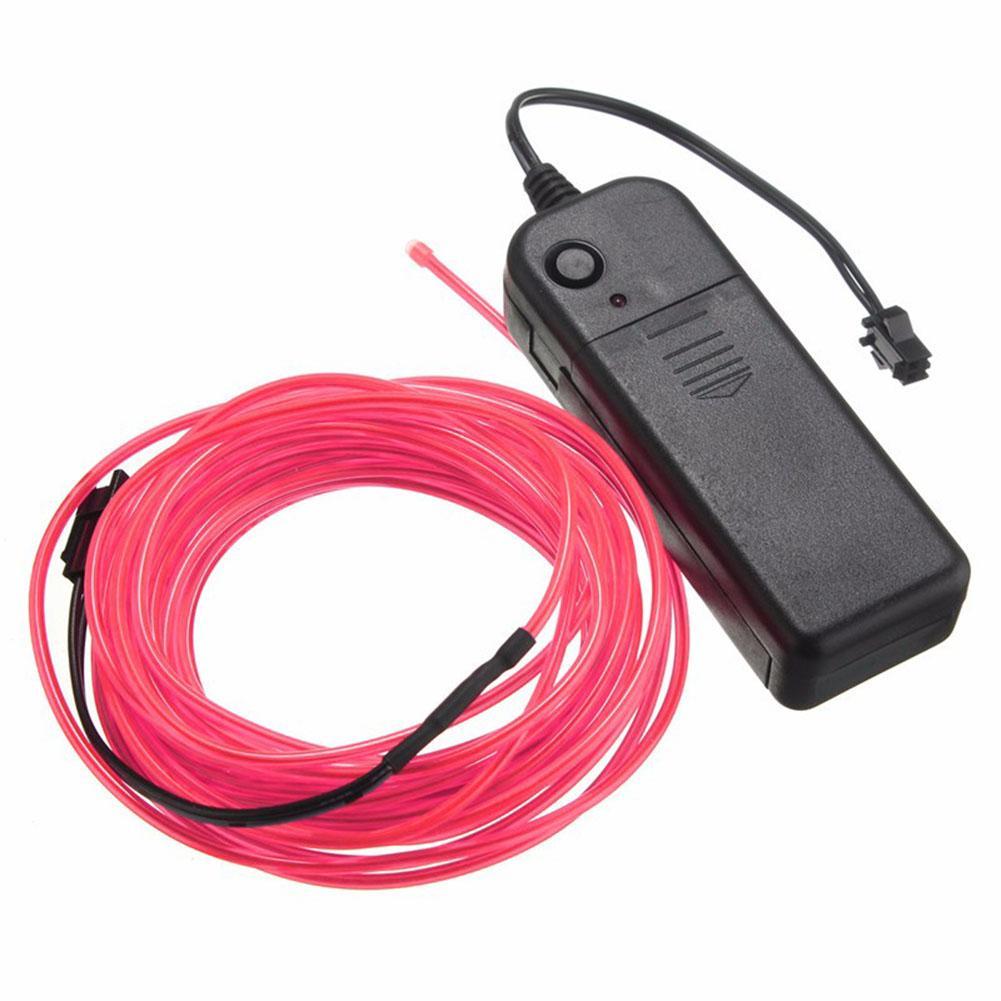 EL Wire 2 3 5 Metre Corda Tubo Cavo Fai da te Strisce Led Stringa Luci Bagliore al neon flessibile decorazioni interni Car Dance